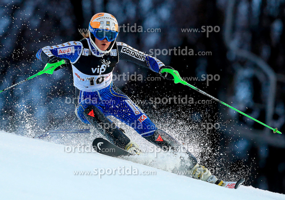 04.01.2013, Crveni Spust, Zagreb, AUT, FIS Ski Alpin Weltcup, Slalom, Damen, 1. Lauf, im Bild Anna Swenn-Larsson (SWE) // Anna Swenn-Larsson of Sweden in action during 1st Run of the ladies Slalom of the FIS ski alpine world cup at Crveni Spust course in Zagreb, Croatia on 2013/01/04. EXPA Pictures © 2013, PhotoCredit: EXPA/ Pixsell/ Jurica Galoic..***** ATTENTION - for AUT, SLO, SUI, ITA, FRA only *****