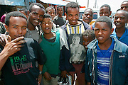 """ADDIS ABABA, ETHIOPIA..The """"Mercato"""", biggest market between Cairo and Cape Town. Youngster with Mike Tyson t-shirt..(Photo by Heimo Aga)"""