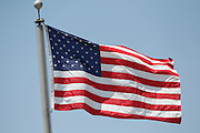 LOS ANGELES - MAY 30:  The American flag flies high over the stadium for the Memorial Day game between the Colorado Rockies and the Los Angeles Dodgers on Monday, May 30, 2011 at Dodger Stadium in Los Angeles, California. The Dodgers won the game 7-1. (Photo by Paul Spinelli/MLB Photos via Getty Images)