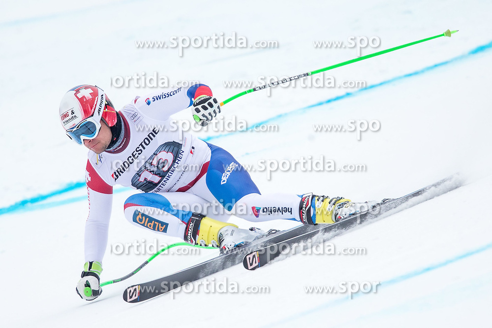 27.02.2015, Kandahar, Garmisch Partenkirchen, GER, FIS Weltcup Ski Alpin, Abfahrt, Herren, 2. Training, im Bild Patrick Kueng (SUI) // Patrick Kueng of Switzerland in action during the 2nd trainings run for the men's Downhill of the FIS Ski Alpine World Cup at the Kandahar course, Garmisch Partenkirchen, Germany on 2015/27/02. EXPA Pictures © 2015, PhotoCredit: EXPA/ Johann Groder