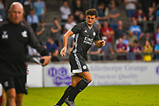 Harry Maguire of Leicester City (15) in action during the Pre-Season Friendly match between Scunthorpe United and Leicester City at Glanford Park, Scunthorpe, England on 16 July 2019.