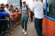 Leeds United midfielder Jack Harrison (22), on loan from Manchester City, arriving during the EFL Sky Bet Championship match between Leeds United and Brentford at Elland Road, Leeds, England on 21 August 2019.