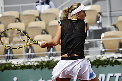 May 27, 2019 - Paris, France - Caroline Wozniacki during the match between .Caroline Wozniacki and Veronika Kudermetova at 2019 Roland Garros, in Paris, France, on May 27, 2019. (Credit Image: © Ibrahim Ezzat/NurPhoto via ZUMA Press)