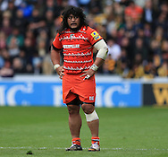 Logovi'i Mulipola of Leicester Tigers during the Aviva Premiership match at the Ricoh Arena, Coventry<br /> Picture by Michael Whitefoot/Focus Images Ltd 07969 898192<br /> 09/05/2015