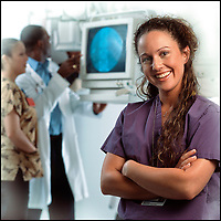 Portrait of nurse for Shady Grove Medical Center Nursing Ad Campaign.