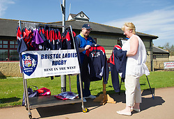 Bristol Ladies merchandise on sale at Cleve RFC - Mandatory by-line: Paul Knight/JMP - 09/04/2017 - RUGBY - Cleve RFC - Bristol, England - Bristol Ladies v Saracens Women - RFU Women's Premiership Play-off Semi-Final