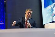 """Nika Gilauri, ex-premier ministre de la Géorgie, lors du Panel Performance """"Doing business en Afrique: les clés d'une (nécessaire) révolution"""", 17 mars 2015, Africa CEO Forum 2015."""