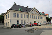 Old Custom House building in Strandsiden harbour area, city of Bergen, Norway