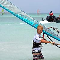 Aruba Hi Winds 2012. Aruba Island, July 3-July 9, 2012. International Competition windsurfing and kite surfing Jimmy Villalta & Valentina Calatrava