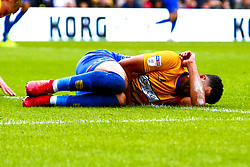An injured Jacob Mellis of Mansfield Town - Mandatory by-line: Ryan Crockett/JMP - 04/05/2019 - FOOTBALL - Stadium MK - Milton Keynes, England - Milton Keynes Dons v Mansfield Town - Sky Bet League One