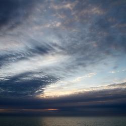 Sunrise, the Great Big Sky, Lake Ontario, The Beaches (Toronto, Canada).
