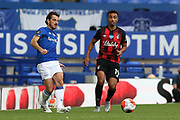 Everton defender Leighton Baines (3) in action for the last time as an Everton player  during the Premier League match between Everton and Bournemouth at Goodison Park, Liverpool, England on 26 July 2020.