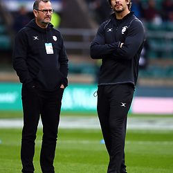 LONDON, ENGLAND - DECEMBER 01: Swys de Bruin of the Barbarians with Eben Etzebeth of the Barbarians during the Killik Cup match between Barbarians and Argentina at Twickenham Stadium on December 01, 2018 in London, England. (Photo by Steve Haag/Gallo Images)