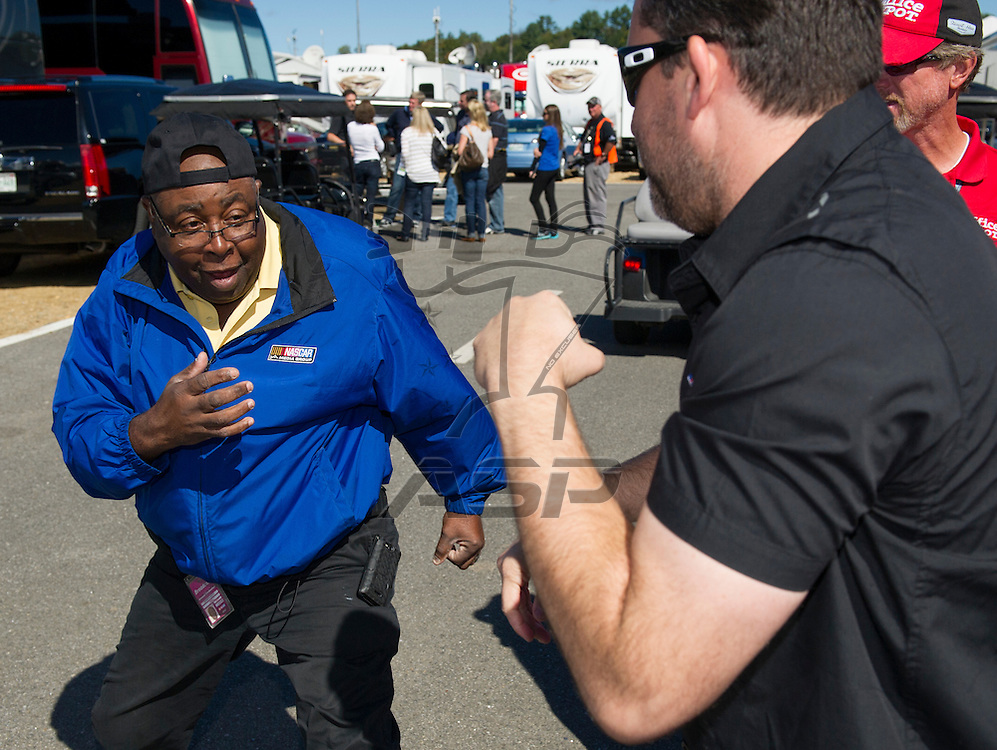 Loudon, NH - SEP 23, 2012:  The NASCAR Sprint Cup teams take to the track for the Sylvania 300 at New Hampshire Motor Speedway in Loudon, NH.