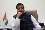 Maharastra Chief Minister Mr. Prithviraj Chavan, at his residence on 20th November 2012 in a chat with Rana Aayub.