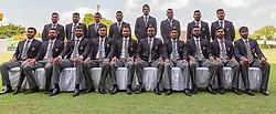 May 6, 2019 - Colombo, Sri Lanka - Sri Lankan cricket team pose for a photograph prior to leaving for ICC cricket World Cup 2019   at SSC cricket ground, Colombo, Sri Lanka 05-06-2019. (Credit Image: © Tharaka Basnayaka/NurPhoto via ZUMA Press)