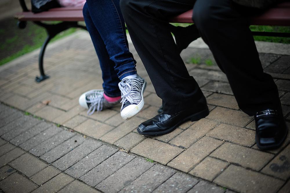 2012020550.Tanisha and Gabe engagement shoot at Hemisfair Park..Sunday2/5/12.Photo © Bahram Mark Sobhani