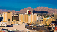 Panoramic view of Downtown Las Vegas, Nevada USA.