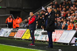 Swansea City caretaker manager Leon Britton and Crystal Palace manager Roy Hodgson on the touch line - Mandatory by-line: Craig Thomas/JMP - 23/12/2017 - FOOTBALL - Liberty Stadium - Swansea, England - Swansea City v Crystal Palace - Premier League