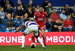 Bradley Barry of Swindon Town takes on Darnell Furlong of Queens Park Rangers - Mandatory by-line: Robbie Stephenson/JMP - 10/08/2016 - FOOTBALL - Loftus Road - London, England - Queens Park Rangers v Swindon Town - EFL League Cup