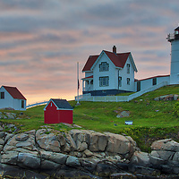 A closer look of Cape Neddick Light Station captured at sunrise in York, Maine. Loved watching this sunrise and capturing a sun star of the rising sun while the first light created a beautiful sky across one of Maine's most scenic lighthouses, Cape Neddick Light.<br /> <br /> Maine Nubble Lighthouse photography images are available as museum quality photography prints, canvas prints, acrylic prints or metal prints. Prints may be framed and matted to the individual liking and room decor needs:<br /> <br /> https://juergen-roth.pixels.com/featured/cape-neddick-light-station-juergen-roth.html<br /> <br /> My best,<br /> <br /> Juergen<br /> Prints: http://www.rothgalleries.com<br /> Photo Blog: http://whereintheworldisjuergen.blogspot.com<br /> Instagram: https://www.instagram.com/rothgalleries<br /> Twitter: https://twitter.com/naturefineart<br /> Facebook: https://www.facebook.com/naturefineart