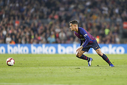 October 20, 2018 - Barcelona, Catalonia, Spain - FC Barcelona midfielder Philippe Coutinho (7) during the match FC Barcelona against Sevilla FC, for the round 9 of the Liga Santander, played at Camp Nou  on 20th October 2018 in Barcelona, Spain. (Credit Image: © Mikel Trigueros/NurPhoto via ZUMA Press)