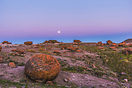 The Full Moon of July 11, 2014, dubbed a &quot;supermoon&quot; as it ocurred within a day of perigee, rising over the sandstone concretions of Red Rock Coulee Natural Area in southern Alberta. The Moon sits just above the pink Belt of Venus and the dark blue shadow of the Earth rising in the east.<br /> <br /> This is a high dynamic range stack of 6 exposures with the Canon 60Da and 10-22mm lens.