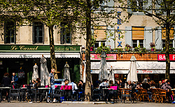 Cafe - Bistro in the Place Carnot in Carcassonne, France<br /> <br /> (c) Andrew Wilson | Edinburgh Elite media