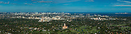 Aerial panorama of Coral Gables, Miami. Featuring the Biltmore Hotel and golf course with Coconut Grove and the Miami Skyline ion the distance. This version is watermarked, contact us to license and clean version.