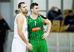 Stipe Modric  of Ilirija and Drazen Bubnic of Petrol Olimpijaduring basketball match between KK Ilirija and KK Petrol Olimpija in 10th Round of Nova KBM Basketball League 2017/18, on December 17, 2017 in Hala Tivoli, Ljubljana, Slovenia. Photo by Vid Ponikvar / Sportida