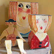 Colourful ceramics at laughing Fish Studio, Aranui Road. Mapua.  New Zealand, 3rd February 2011. Photo Tim Clayton..