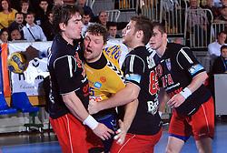 Rok Praznik (5) at handball match of 4th Round of EHF Men Championsleague between RK Cimos Koper (SLO) and Steaua MFA Bucuresti (ROM), in Arena Bonifika, Koper, Slovenia, on November 8, 2008. Steaua  won the match 30:29.