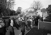 National Farmer's Association attack the car of Charlie Haughey, Minister for Agriculture. N.F.A. members surround and stop Mr. Haughey's car as he enters the Intercontinental Hotel to open the 5th Annual Congress of the British Equine Veterinary Association..25.10.1966.