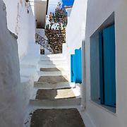 Stairway among the houses in Skopelos island