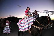 Florecitas del Dierto performs at Dia De San Juan Fiesta at the Santa Cruz River Park, Tucson, Arizona, USA.