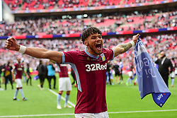 May 27, 2019 - London, England, United Kingdom - Tyrone Mings (40) of Aston Villa celebrates during the Sky Bet Championship match between Aston Villa and Derby County at Wembley Stadium, London on Monday 27th May 2019. (Credit: Jon Hobley | MI News) (Credit Image: © Mi News/NurPhoto via ZUMA Press)