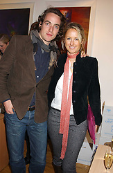 ROBERT FRY and MISS ALICE BRUDENELL-BRUCE at an exhibition of art by Jeffrey Kroll entitled Imirage held at the Arndean Gallery, Cork Street, London on 19th October 2005.<br />