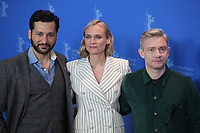 Actor Cas Anvar, Actress Diane Kruger and actor Martin Freeman at the photocall for the film The Operative (Die Agentin) at the 69th Berlinale International Film Festival, on Sunday 10th February 2019, Hotel Grand Hyatt, Berlin, Germany.