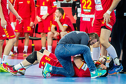 Zharko Peshevski of Macedonia during during handball match between National teams of Germany and Macedonia on Day 5 in Preliminary Round of Men's EHF EURO 2018, on January 17, 2018 in Arena Zagreb, Zagreb, Croatia. Photo by Ziga Zupan / Sportida