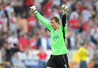 Fotball<br /> Tyskland<br /> Foto: Witters/Digitalsport<br /> NORWAY ONLY<br /> <br /> 12.04.2009<br /> <br /> Jubel Torwart Jens Lehman VfB nach 1:0<br /> <br /> Bundesliga VfB Stuttgart - Hamburger SV