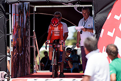 Cecilie Uttrup Ludwig in the start house on Stage 5 of the Giro Rosa - a 12.7 km individual time trial, starting and finishing in Sant'Elpido A Mare on July 4, 2017, in Fermo, Italy. (Photo by Sean Robinson/Velofocus.com)