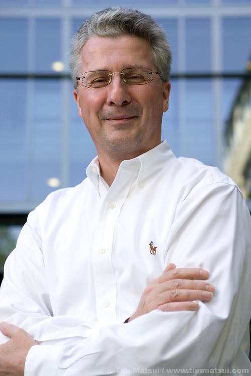 Portrait of Helmut Lutz, GM, Finance, at the Redmond Microsoft campus.
