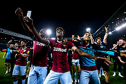 Keinan Davis, Tammy Abraham and Andre Green of Aston Villa celebrate after their side win on penalties against West Bromwich Albion to book their place in the Sky Bet Championship Playoff Final - Mandatory by-line: Robbie Stephenson/JMP - 14/05/2019 - FOOTBALL - The Hawthorns - West Bromwich, England - West Bromwich Albion v Aston Villa - Sky Bet Championship Play-off Semi-Final 2nd Leg