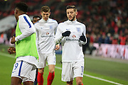 England Adam Lallana in warm up during the FIFA World Cup Qualifier group stage match between England and Scotland at Wembley Stadium, London, England on 11 November 2016. Photo by Phil Duncan.