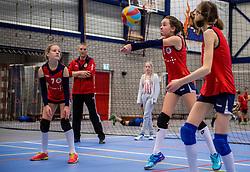 18-02-2017 NED:  Halve Finale NJOK, Houten<br /> In sporthal de kruisboog worden de wedstrijden gespeeld door CMV meisjes en jongens / Taurus