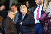 David Moyes in the stands before the Sky Bet Championship match between Burnley and Middlesbrough at Turf Moor, Burnley, England on 19 April 2016. Photo by Simon Brady.