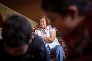 La abuela de Yuliana, Celida de Viloria observa un programa de TV mientras sus nietos juegan. Gracias a FundaHigado, Yuliana recibió un trasplante de higado que le permite disfrutar de la vida. Punto Fijo, Venezuela 26 y 27 Oct. 2012. (Foto/ivan gonzalez)