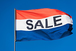Flag saying Sale (Credit Image: © Image Source/Alan Schein/Image Source/ZUMAPRESS.com)