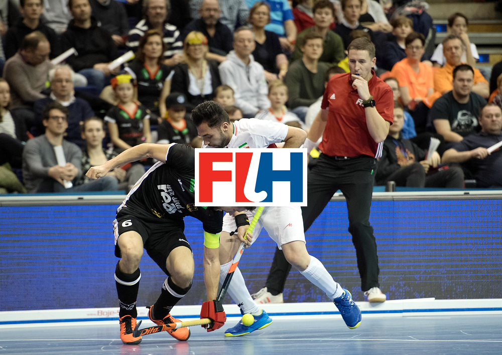 BERLIN - Indoor Hockey World Cup<br /> SF1 Germany - Iran<br /> foto: Martin H&auml;ner <br /> WORLDSPORTPICS COPYRIGHT FRANK UIJLENBROEK