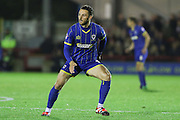 Callum Kennedy of AFC Wimbledon during the Sky Bet League 2 match between AFC Wimbledon and Dagenham and Redbridge at the Cherry Red Records Stadium, Kingston, England on 24 November 2015. Photo by Stuart Butcher.